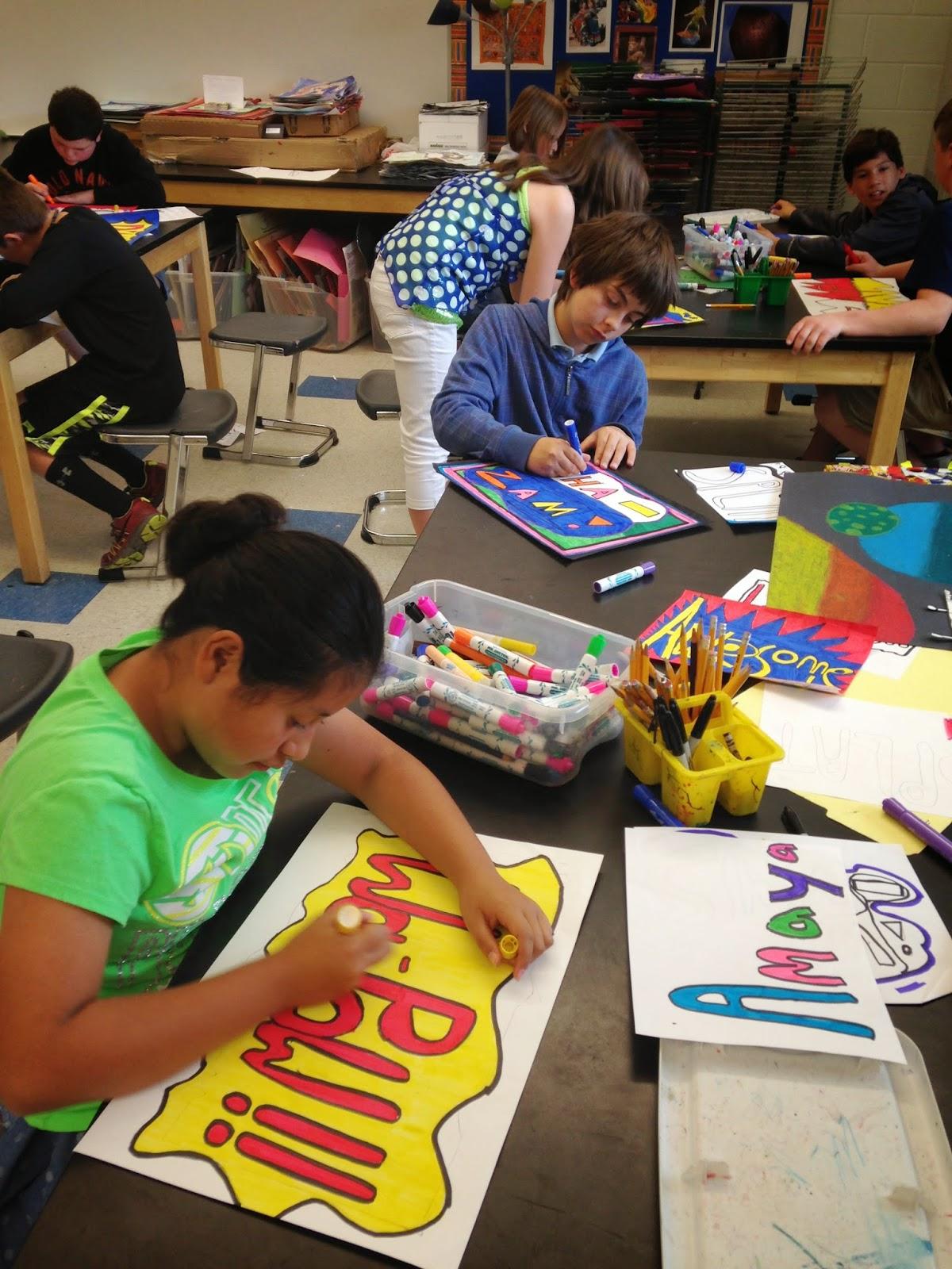 Jamestown Elementary Art Blog 5th Grade Pop Art