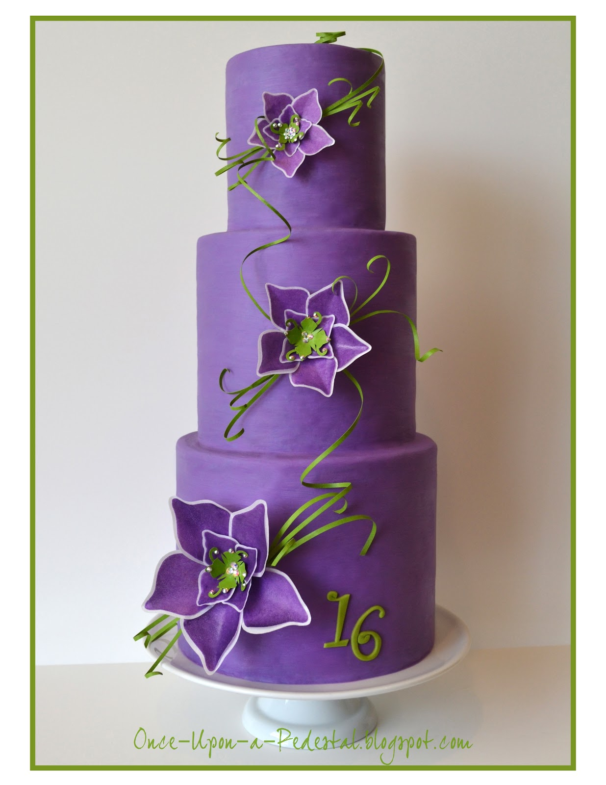Once Upon A Pedestal: Sweet 16 Cake For Cake Central Magazine
