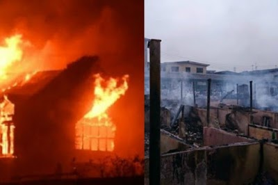 Fire razes Binukonu market Ojota, goods worth millions destroyed