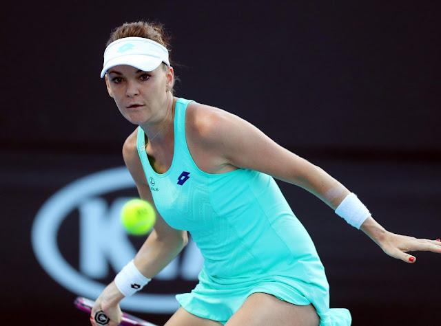 HD Photos of Agnieszka Radwanska At Australian Open Tennis Tournament 2018 In Melbourne