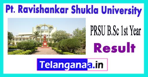 PRSU Pt. Ravishankar Shukla University B.Sc 1st Year Result 2018 Download