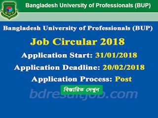 BUP Professor, Lecturer, Stuff and Employee Recruitment Circular 2018