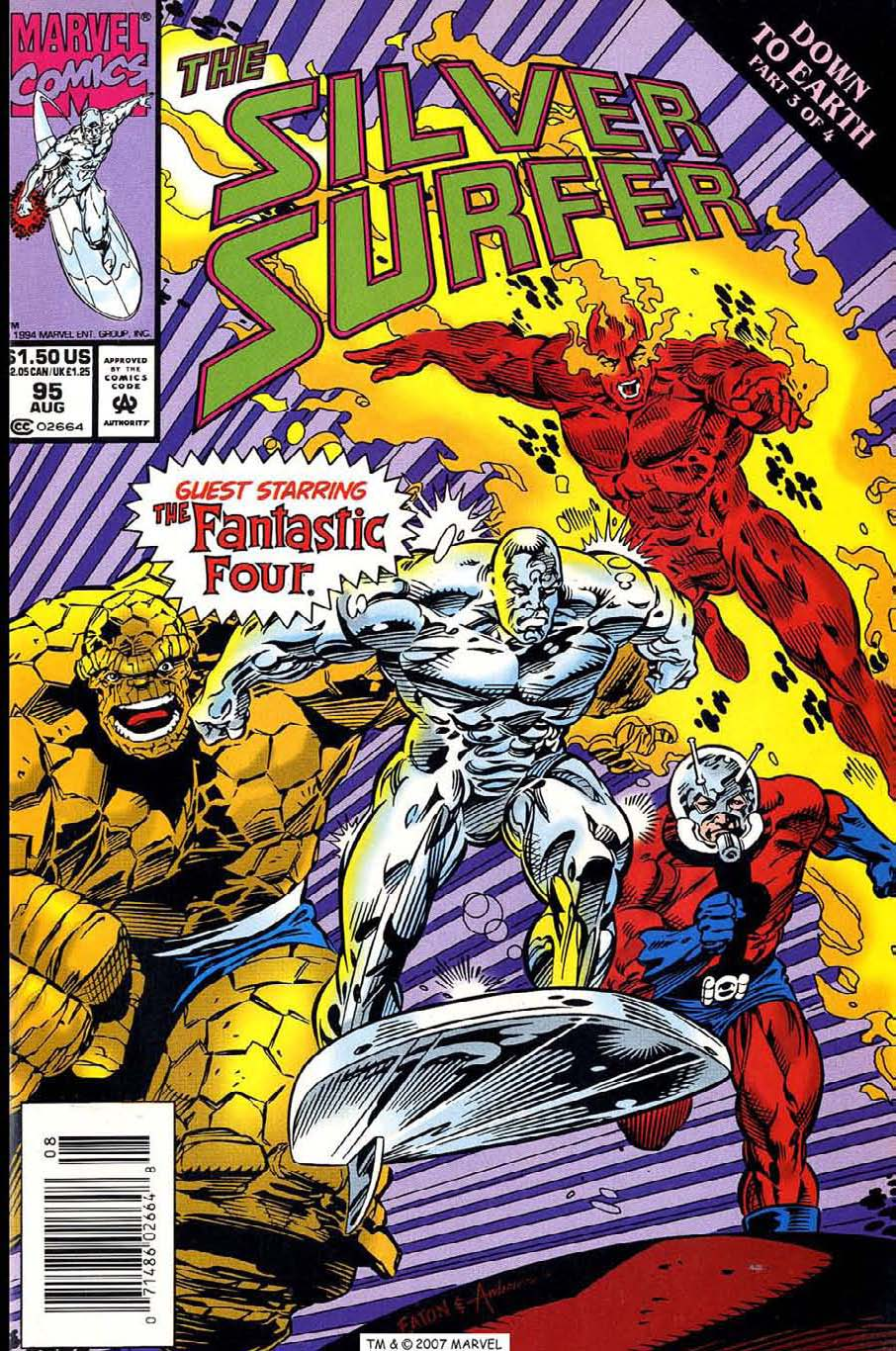 Read online Silver Surfer (1987) comic -  Issue #95 - 1