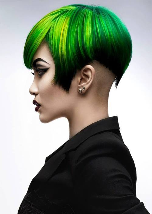 Faces Places & Lipstick Traces: MORE GREEN HAIR COLOR