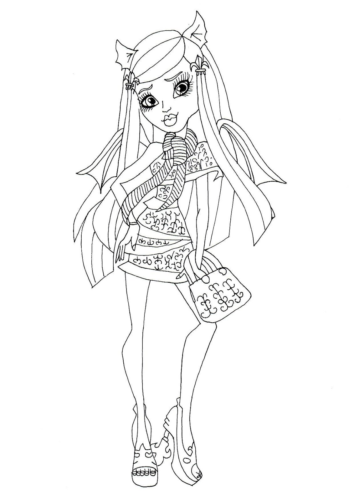 Rochelle Goyle Ghouls Night Out Coloring Sheet PLEASE CLICK HERE TO PRINT Free Printable Monster High