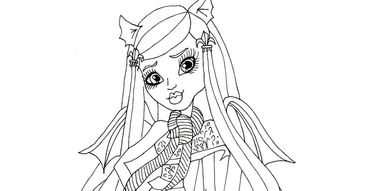 Free printable monster high coloring pages rochelle goyle for Monster high coloring pages to print out