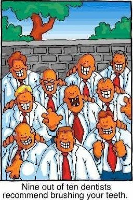 Funny Nine Out Of Ten Dentists Recommend Cartoon Picture