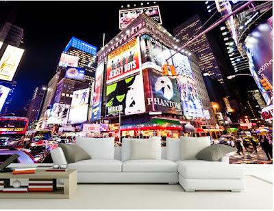 häftig tapet new york fototapet times square cool tapet vardagsrum 3d