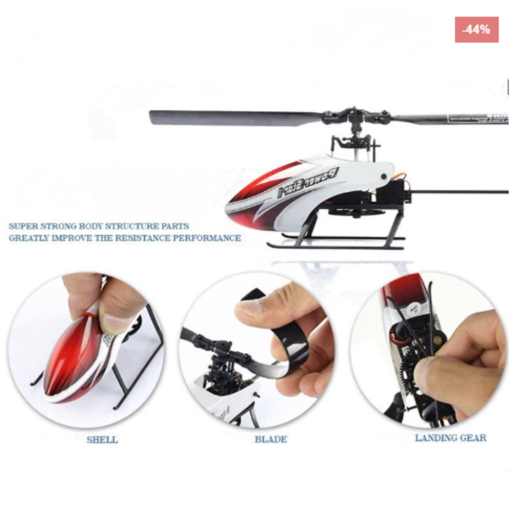 HobbyAnt Online: WLtoys V966 RC Helicopter 6-Axis Gyro Flybarless
