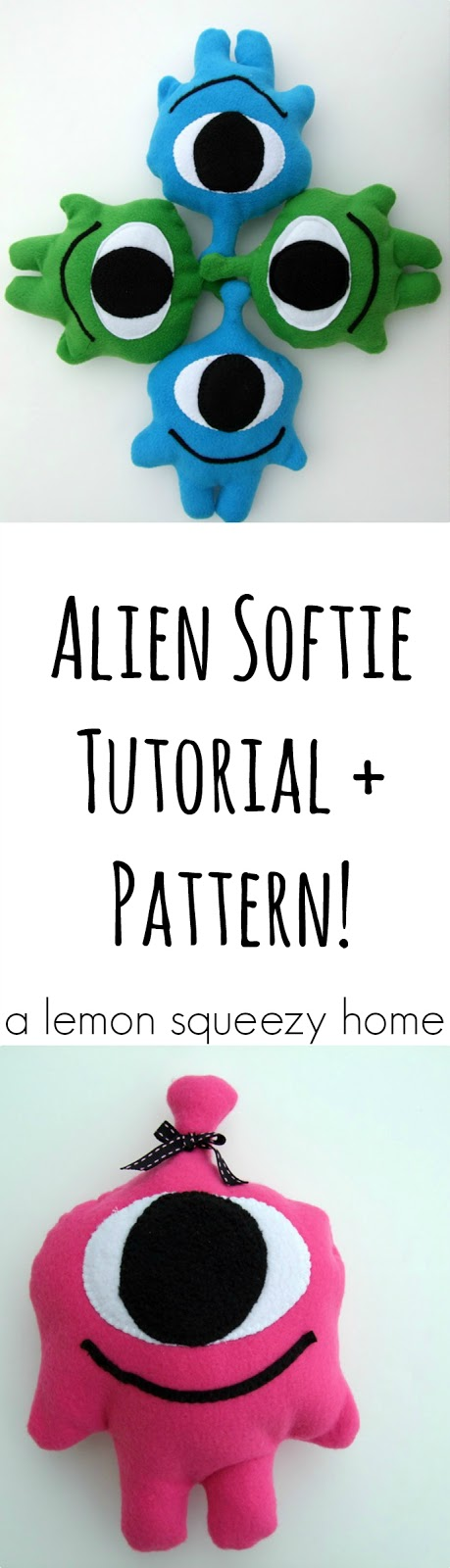 Alien Softie Tutorial + Pattern // a lemon squeezy home