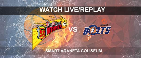 List of Replay Videos SMB vs Meralco September 24, 2017 @ Smart Araneta Coliseum