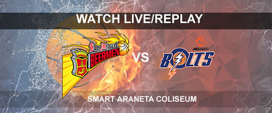 List of Replay Videos SMB vs Meralco September 24, 2017 @ Smart Araneta Coliseum