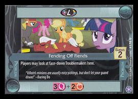 My Little Pony Fending off Fiends The Crystal Games CCG Card