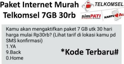 Buat Paket Internet Telkomsel Murah 7GB Harga 30 Ribu