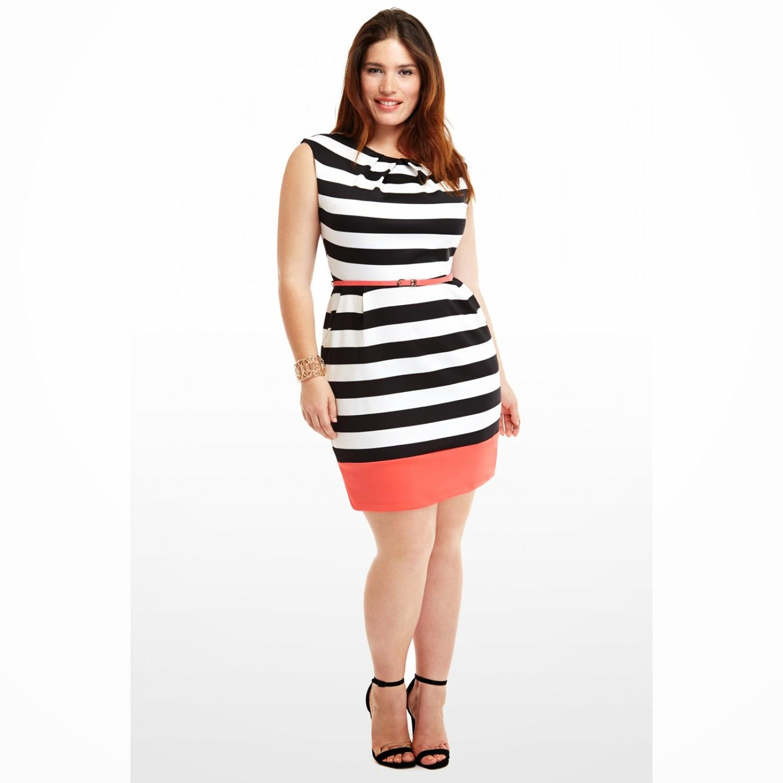 Moda en vestidos para gorditas 2014