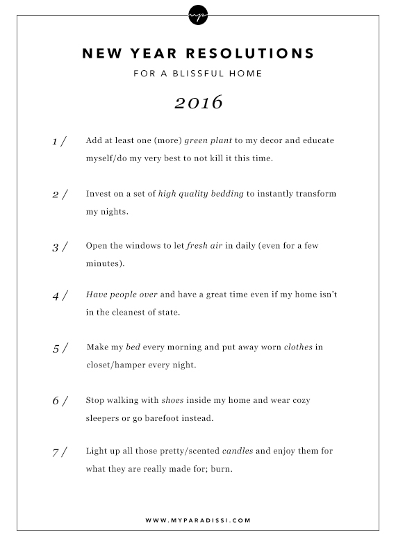 new year resolutions for a blissful home my paradissi my new year resolutions for a blissful home my paradissi