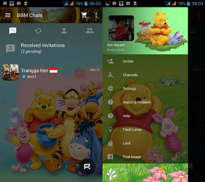 MOD BBM v2.10.0.31 Clone - Winnie The Pooh
