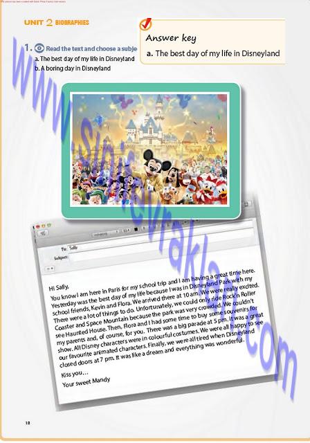 7. Sınıf İngilizce Pantera Yayınları Ders Kitabı Cevapları Sayfa 18