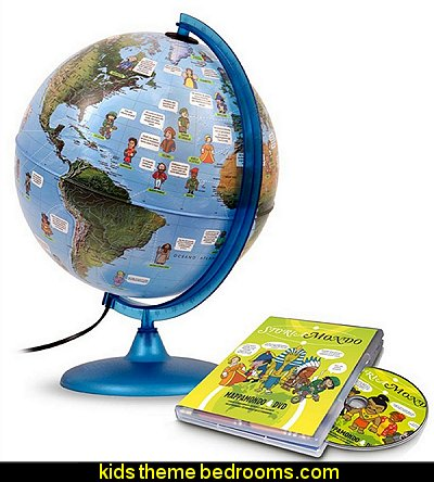 Notable People of the World Globe  playrooms alphabet numbers decorating ideas - educational fun learning letters & numbers decor - abc 123 theme bedroom ideas - Alphabet room decor - Numbers room decor - Creative playrooms educational children bedrooms - Alphabet Nursery - Alphabet Wall Letters - primary color bedroom ideas - boys costumes - girls costumes pretend play - fun playroom furniture