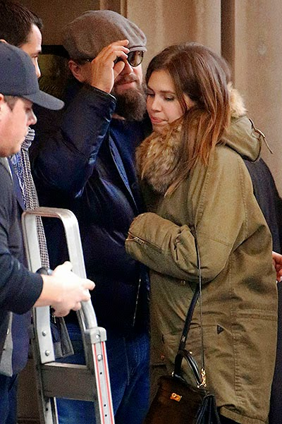 Friendly hugs: Leonardo DiCaprio and Dasha Zhukova