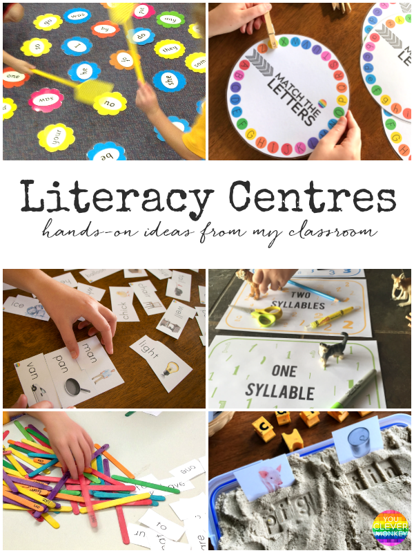 Literacy Centre Ideas - hands-on literacy center activities perfect for 5-8 years | you clever monkey