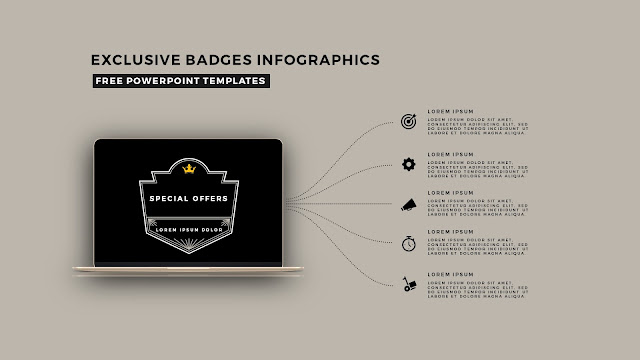 Infographic Badges Free PowerPoint Template for Special Offers Slide 7