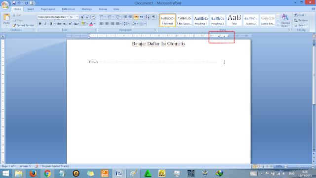 Cara Membuat Daftar Isi Otomatis di Word Yang Rapi
