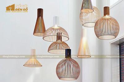 Thế Giới Đèn Gỗ - 8 mẫu đèn trang trí gỗ cho phòng ăn đẹp lung linh 24