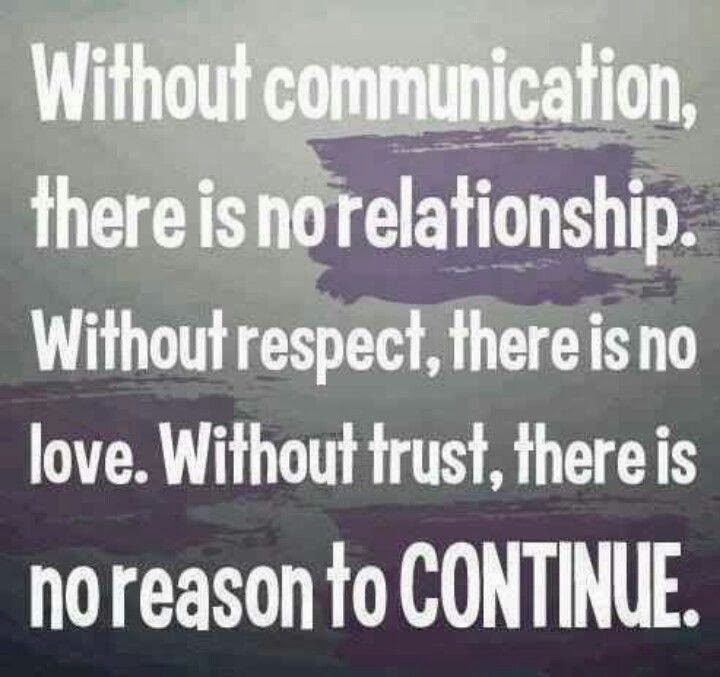 Love Each Other When Two Souls: Without Communication, There Is No Relationship. Without