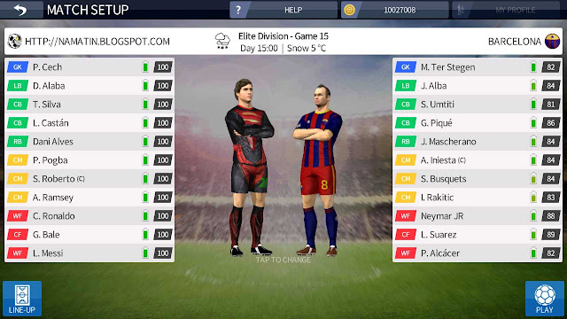 cheat semua pemain 100 dream league soccer