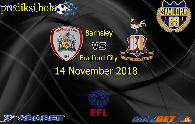Prediksi Bola Terpercaya Liga  EFL Trophy  Barnsley vs Bradford 14 November 2018
