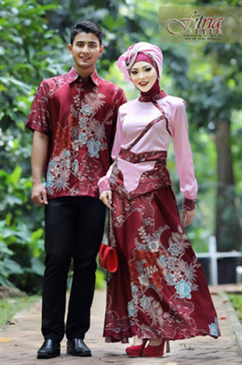Model Batik Couple Hijab Modern Model Batik 2019