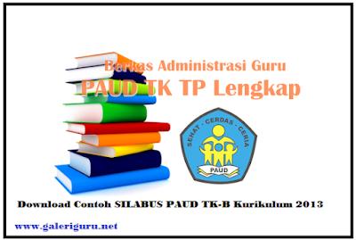 Download Contoh SILABUS PAUD TK-B Kurikulum 2013