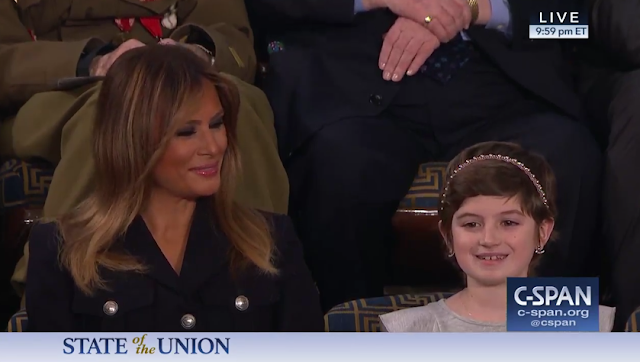 State of the Union 2019 Grace Eline brain cancer girl Melania Trump guest