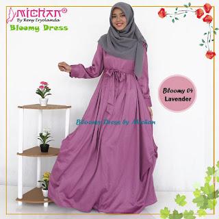 Gamis Michan Hijab Bloomy 04 Lavender