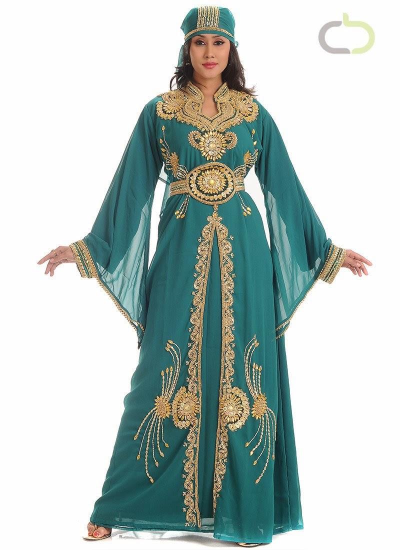 Contoh Baju Muslim Kaftan Wanita Cantik