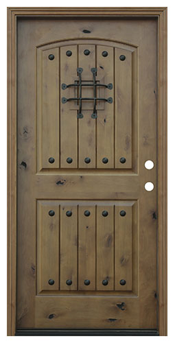 image result for alder wood plank v-grooves exterior door clavos Pacific Entries speakeasy