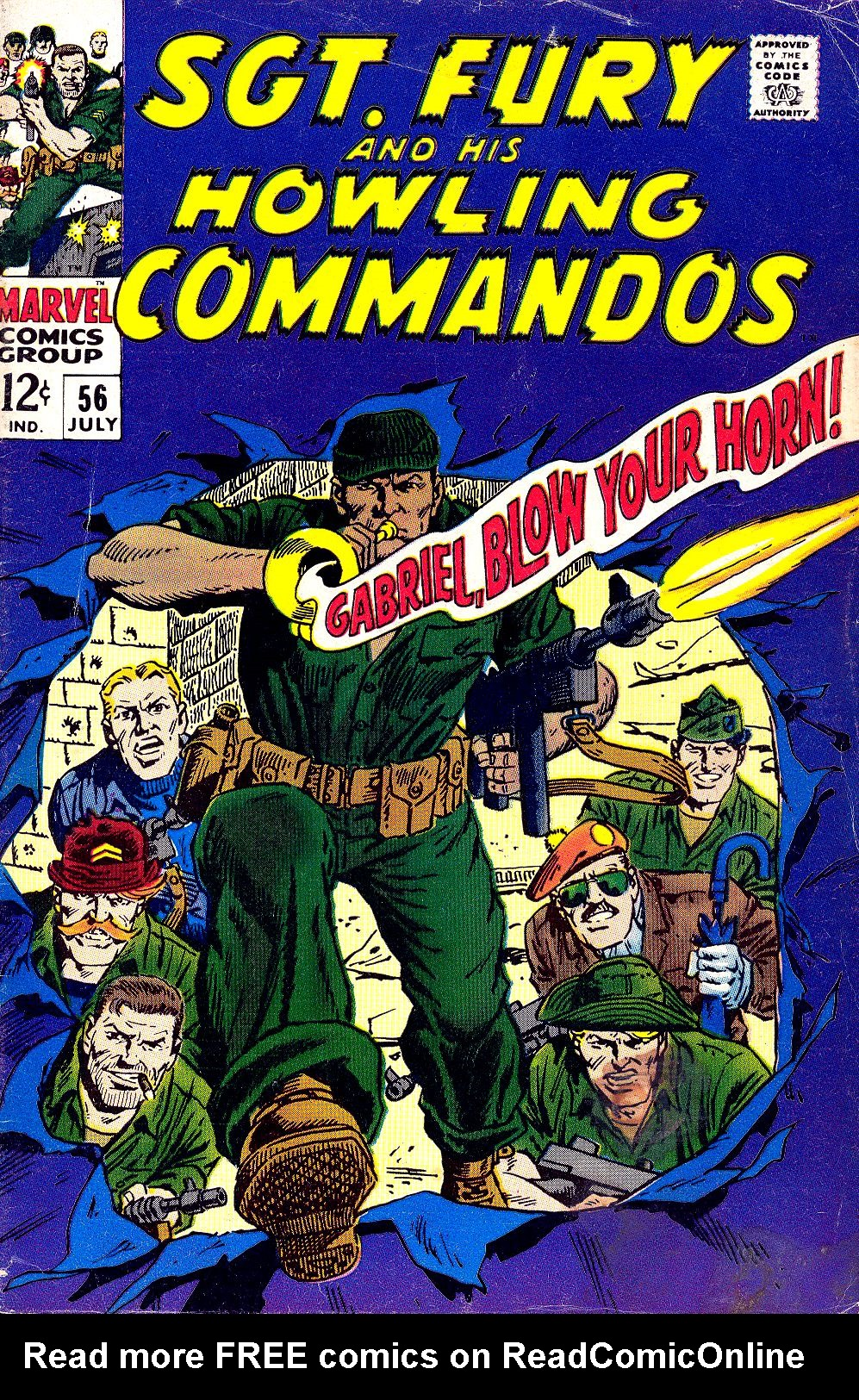 Read online Sgt. Fury comic -  Issue #56 - 1