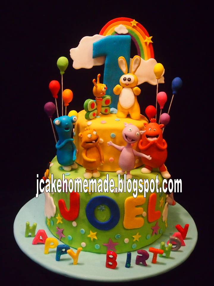 Jcakehomemade baby tv birthday cake for Baby tv birthday decoration