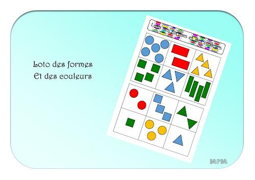 Loto des formes et des couleurs en maternelle