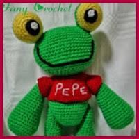Sapo Pepe amigurumi