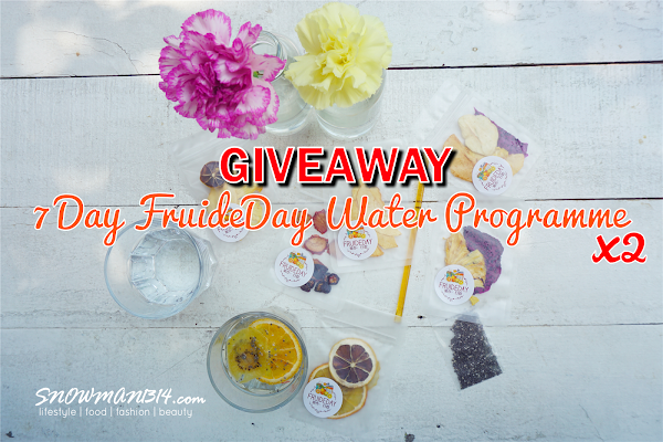[GIVEAWAY] FRUIDEDAY Dried Fruit Health Water