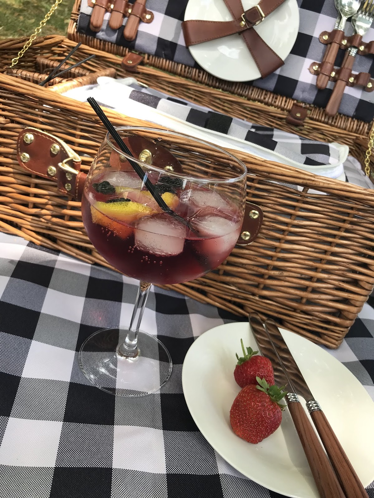 Gin and tonic picnic at Rufford Abbey country park