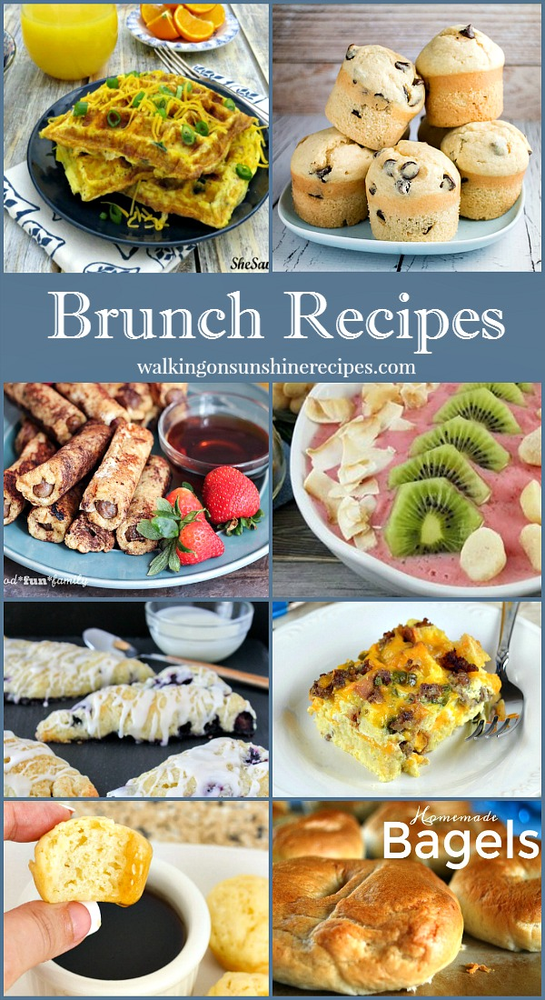 Brunch and breakfast recipes perfect for Mother's Day or a special celebration featured on Walking on Sunshine.