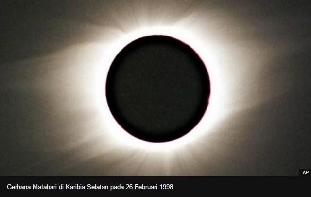 gambar foto video gerhana matahari total rabu 9 maret 2016