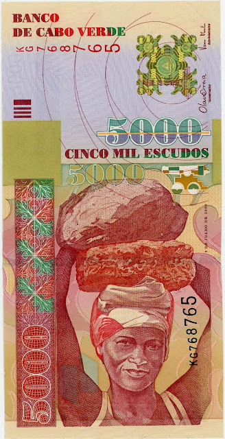 Currency of Cape Verde 5000 Escudos banknote 2000