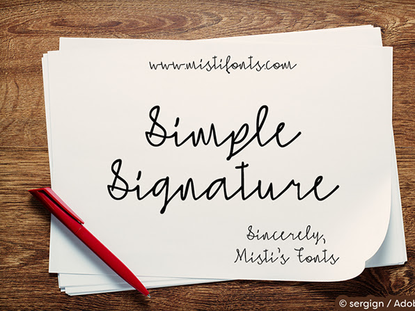 Simple Easy Signature Font Free Download