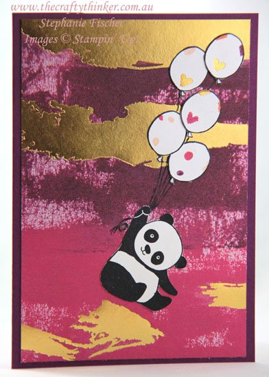 #thecraftythinker, #cardmaking, #stampinup, Painted with Love, Party pandas, sneak peek, Occasions 2018, Saleabration 2018, Stampin' Up Australia Demonstrator, Sydney NSW