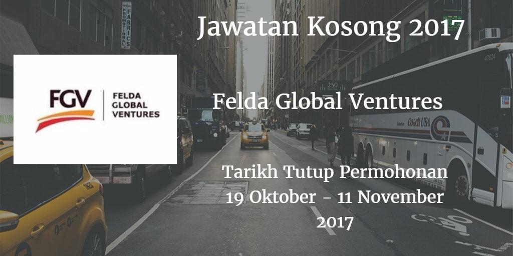 Jawatan Kosong FGV 19 Oktober - 11 November 2017