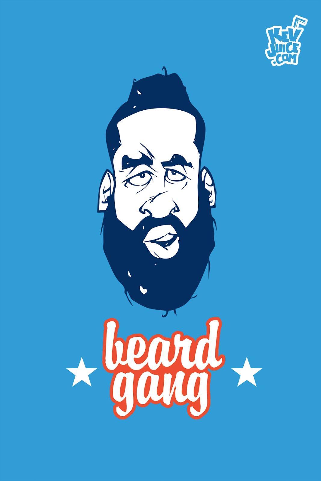 James harden fear the beard logo - photo#40